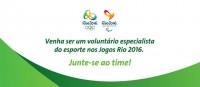 PROGRAMA DE VOLUNTÁRIOS ESPECIALISTA EM HIPISMO OLIMPÍADAS RIO 2016