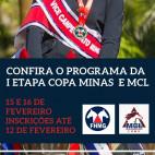 Confira o Programa da I Etapa Copa Minas