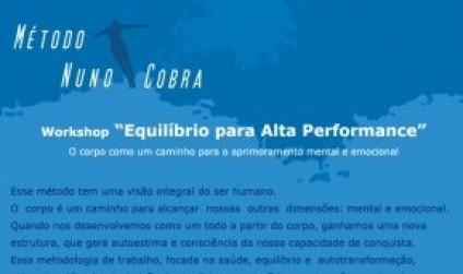 WORKSHOP COM NUNO JR E RENATO COBRA E PALESTRA COM EDUARDO MOREIRA DIA 31
