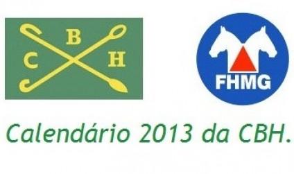 Calendário 2013 da CBH