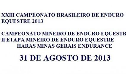Catenópolis sediará os Campeonatos Brasileiro e Mineiro de Enduro Equestre 2013