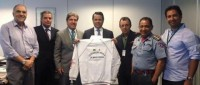 A diretoria da FHMG teve ontem uma reunião com o Secretário de Esportes de MG.