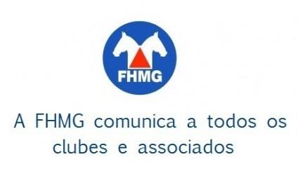 A FHMG comunica a todos os clubes e associados