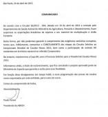 Cancelamento das Seletivas do Campeonato Mundial de Cavalos Novos 2013